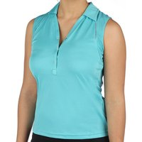 Head Performance Womens Polo Shirt Sleeveless - Sky, X Large