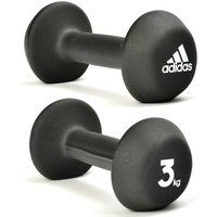 Adidas 2 X 3kg Neoprene Dumbbells
