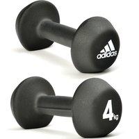 Adidas 2 X 4kg Neoprene Dumbbells