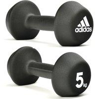 Adidas 2 X 5kg Neoprene Dumbbells