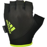 adidas Essential Fingerless Weight Lifting Gloves - Black/Yellow, M