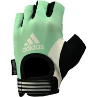 Adidas Half Finger Ladies Fitness Gloves - Green, L