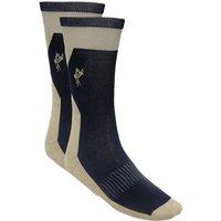 Ashworth Mens Cotton Rich Golf Socks - Cream/Navy