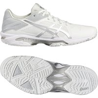Asics Gel-Solution Speed 3 Mens Tennis Shoes - White/Silver, 11 UK