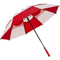 Bagboy 62 Inch Wind Vent Umbrella - Red/white