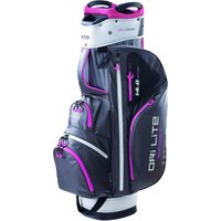 Big Max Dri Lite Sport Golf Cart Bag - Grey/Pink