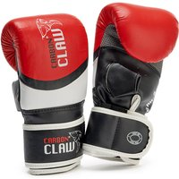 Image of Carbon Claw Aero AX-5 Leather Bag Mitts - Red/Black/White, S / M