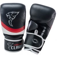 Image of Carbon Claw Aero AX-5 Leather Bag Mitts - Black/Red, M / L