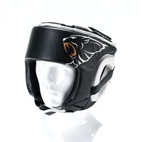 Image of Carbon Claw AMT CX-7 Black Leather Headguard - M
