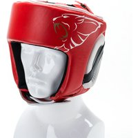 Image of Carbon Claw AMT CX-7 Red Leather Headguard - L