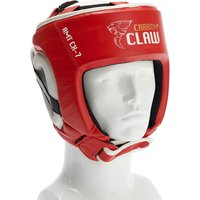 Image of Carbon Claw AMT CX-7 Red Leather Headguard - M