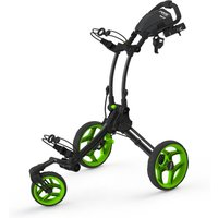Clicgear Rovic RV1S Swivel Golf Trolley - Charcoal / Lime