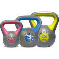 Image of DKN 2, 3 and 4kg Vinyl Kettlebell Weight Set