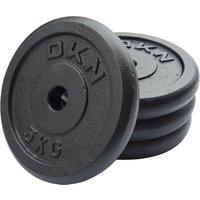 DKN Cast Iron Standard Weight Plates - 4 x 5kg
