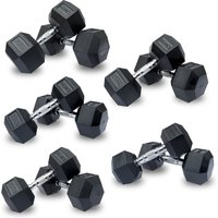 Image of DKN 15 kg Rubber Hex Dumbbell