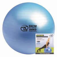 Fitness Mad Swiss Ball 300kg Pump and DVD - 55cm