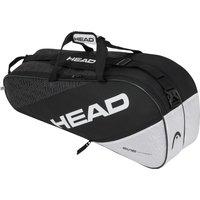 Head Elite Combi 6R Racket Bag - Black/White