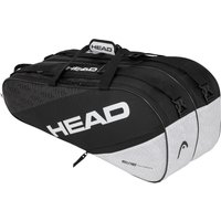 Head Elite Supercombi 9R Racket Bag - Black/White