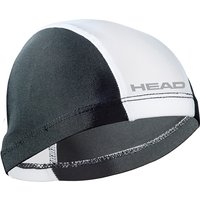 Head Nylon Spandex Junior Swimming Cap - Black/White