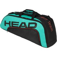 Head Tour Team Combi 6R Racket Bag - Black/Blue