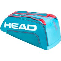 Head Tour Team Supercombi 9R Racket Bag - Blue/Pink