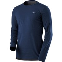 Head Transition Mens Long Sleeve Top - Navy/Grey, M