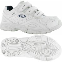 Hi-Tec XT115 EZ Junior Running Shoes - White/Silver/Navy, 1 UK