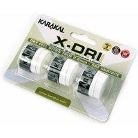 Karakal X-Dri Overwrap Grip - Pack of 3 - White