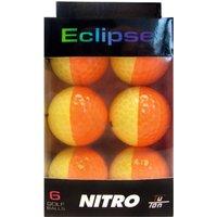 Longridge Nitro Eclipse Golf Balls (pack of 6) - Orange/Yellow