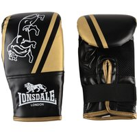 Image of Lonsdale Club Bag Mitts - Black/Gold, L/XL