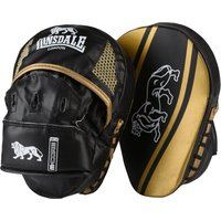 Image of Lonsdale Jab Curved Hook and Jab Pads - Grey/Pink