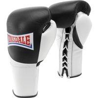 Lonsdale Ultimate Pro Mk II Fight Gloves - Black/White, 10oz