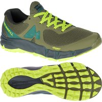 Merrell Agility Charge Flex Mens Running Shoes - Green/Yellow, 9.5 UK