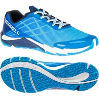 Merrell Bare Access Flex Mens Running Shoes - Blue, 10 UK