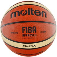 Molten GMX Parallel Pebble FIBA Approved Leather Basketball - Size 5