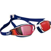 MP Michael Phelps Xceed Titanium Swimming Goggles - Red/Navy