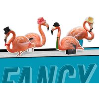 Mustard Fancy Flamingos Magnetic Bookmarks