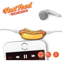 Mustard Fast Food Hot Dog Headphone Splitter