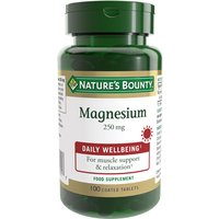 Image of Natures Bounty Magnesium 250mg - 100 Tablets