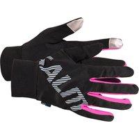 Salming Running Gloves - Black/Pink, XS