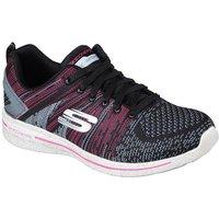 Skechers Burst 2.0 Ladies Walking Shoes - Pink/Black, 6 UK