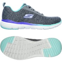 Skechers Flex Appeal 3.0 Fan Craze Ladies Training Shoes - Grey, 6.5 UK