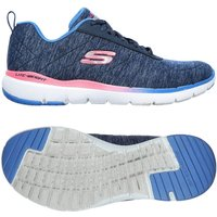 Skechers Flex Appeal 3.0 Fan Craze Ladies Training Shoes - Navy, 6.5 UK