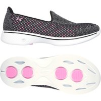 Skechers Go Walk 4 Kindle Ladies Walking Shoes - Grey/Pink, 6 UK