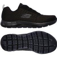 Skechers Sport Flex Appeal 2.0 Break Free Ladies Athletic Shoes - Black, 5 UK