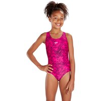 Speedo Boom Allover Splashback Girls Swimsuit - Pink, 26""