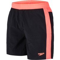 Speedo Colour Block 16in Mens Watershorts - Black/Pink, L