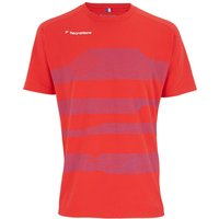 Tecnifibre F1 Boys Stretch T-Shirt - Red, 10 - 12 Years
