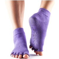 ToeSox Half Toe Ankle Grip Socks - Purple, L