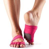 ToeSox Half Toe Releve Dance Grip Socks - Pink, M